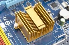 Radiator on motherboard Stock Photo