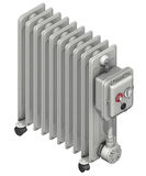 Radiator with oil flow Stock Photo