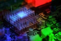 Radiator op motherboard Stock Fotografie