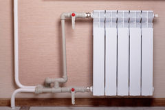 Radiator in a room Stock Photography