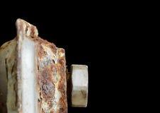 Radiator. Rusty household cast iron radiator Stock Image