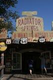 Radiator Springs. A building inside Radiator Springs in Car's Land in Disney's California Adventure Stock Photo