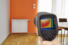 Radiator Thermal Image Royalty Free Stock Photos