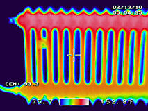 Radiator thermography Stock Photo