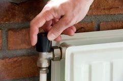 Radiator thermostat Royalty Free Stock Photos