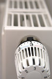 Radiator and Thermostat Stock Photo