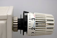 Radiator with Thermostat Royalty Free Stock Photo