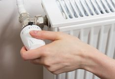 Radiator thermostat Stock Photo