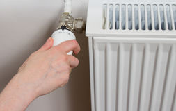 Radiator thermostat Stock Images