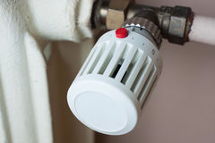 Radiator and thermostat Stock Photography