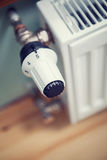 Radiator with Thermostat for regulation Stock Photography