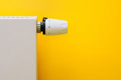 Radiator thermostat set optimal Royalty Free Stock Photo