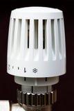 Radiator thermostat set to no freeze temp Royalty Free Stock Photo
