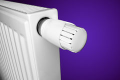 Radiator with thermostat Royalty Free Stock Photography