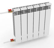 Radiator to heat the room, on a white background 3D illustration. Radiator to heat the room, on a white background. 3D illustration Royalty Free Stock Image