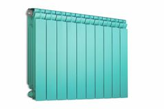 Radiator turquoise color. Royalty Free Stock Photos