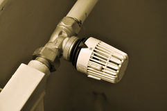 Radiator valve Royalty Free Stock Image