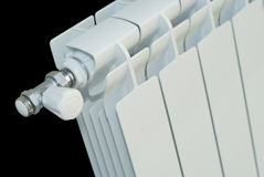 Radiator with valve Royalty Free Stock Images