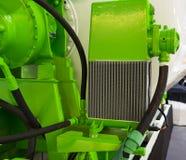 Radiator voor het koelen van beton die trommel mengen stock foto's