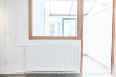 Radiator on the wall Royalty Free Stock Images
