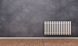 Radiator on a wall Royalty Free Stock Images