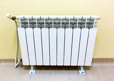 Radiator wall parquet Stock Image