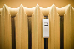 Radiator with white sensor Stock Photography
