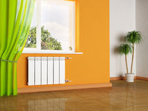 A radiator and a window Royalty Free Stock Images