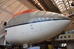 Radiatore anteriore del Boeing 747 in aria nazionale e nel museo di spazio Immagine Stock