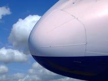 Radiatore anteriore dell'aeroplano Fotografie Stock