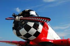 Radiatore anteriore di retro aeroplano di stile Fotografie Stock Libere da Diritti