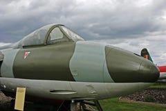Radiatore anteriore e cabina di guida dell'aereo da caccia del cacciatore Immagini Stock