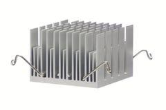 Radiatore di alluminio isolato Fotografia Stock