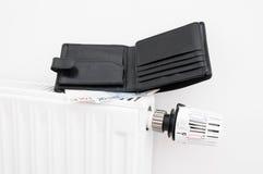 Radiatore e portafoglio Fotografie Stock Libere da Diritti