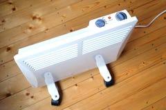 Radiatore elettrico di raggiro con il punto di vista superiore del pannello di controllo Fotografie Stock