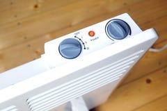 Radiatore elettrico di raggiro con il punto di vista superiore del pannello di controllo Fotografia Stock