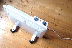 Radiatore elettrico di raggiro con il punto di vista superiore del pannello di controllo Immagini Stock