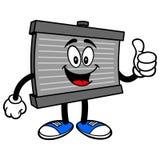 Radiatormascotte met omhoog Duimen royalty-vrije illustratie