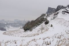 Radical Road, Salisbury Crags, Edinburgh, Scotland Royalty Free Stock Image