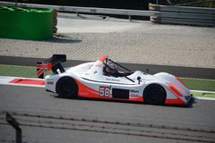 Radical SR3 at Monza. Nr.58 Radical SR3 driven by Pierre Schroeder competing in the Italian Radical Trophy at Monza stock image