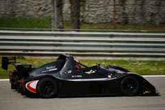 Radical SR3 RS car test at Monza. Alain Costa tests his Radical SR3 RS in preparation of the racing season in Radical Sportscars Prototype Series royalty free stock image