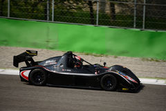 Radical SR3 RS car test at Monza. Alain Costa tests his Radical SR3 RS in preparation of the racing season in Radical Sportscars Prototype Series royalty free stock images