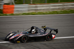 Radical SR3 RS car test at Monza. Alain Costa tests his Radical SR3 RS in preparation of the racing season in Radical Sportscars Prototype Series stock photo