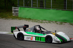 Radical SR8 RX car test at Monza. Philipp Schubert tests his Radical SR8 RX in preparation of the racing season in Radical Sportscars Prototype Series royalty free stock photos