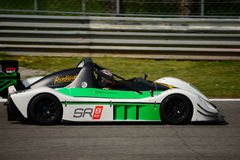 Radical SR8 RX car test at Monza. Philipp Schubert tests his Radical SR8 RX in preparation of the racing season in Radical Sportscars Prototype Series royalty free stock photography