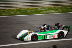 Radical SR8 RX car test at Monza. Philipp Schubert tests his Radical SR8 RX in preparation of the racing season in Radical Sportscars Prototype Series royalty free stock images