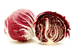 Radicchio. (rosso di verona) on a white background Royalty Free Stock Photos