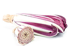 Radicchio. And one part isolated on white Royalty Free Stock Image