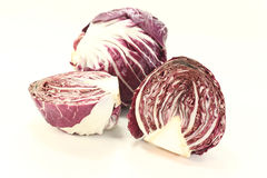 Radicchio. Freshly sliced radicchio on a light background Royalty Free Stock Photos