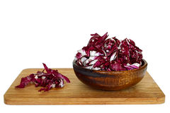 Radicchio in a bowl Stock Photography